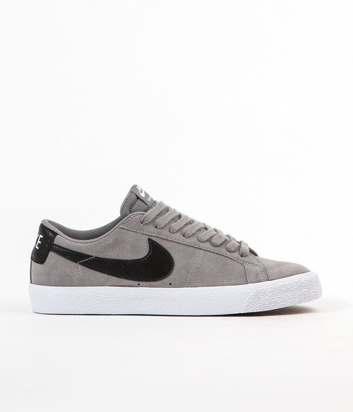 Nike SB Blazer Low Shoes - Dust / Black - White - Gum Light Brown