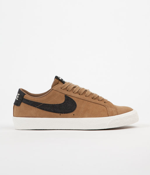 Nike SB Blazer Low Shoes - Golden Beige / Black - Sail - Gum Light Brown