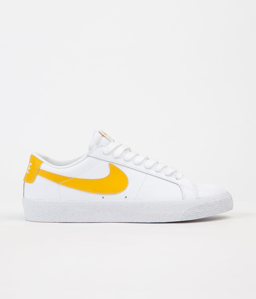 Nike SB Blazer Low Shoes - White / Mineral Gold