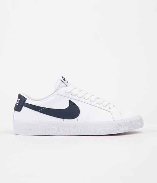 Nike SB Blazer Low Shoes - White / Obsidian