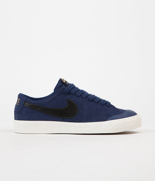 Nike SB Blazer Low XT Shoes - Binary Blue / Black - Gum Light Brown - Sail