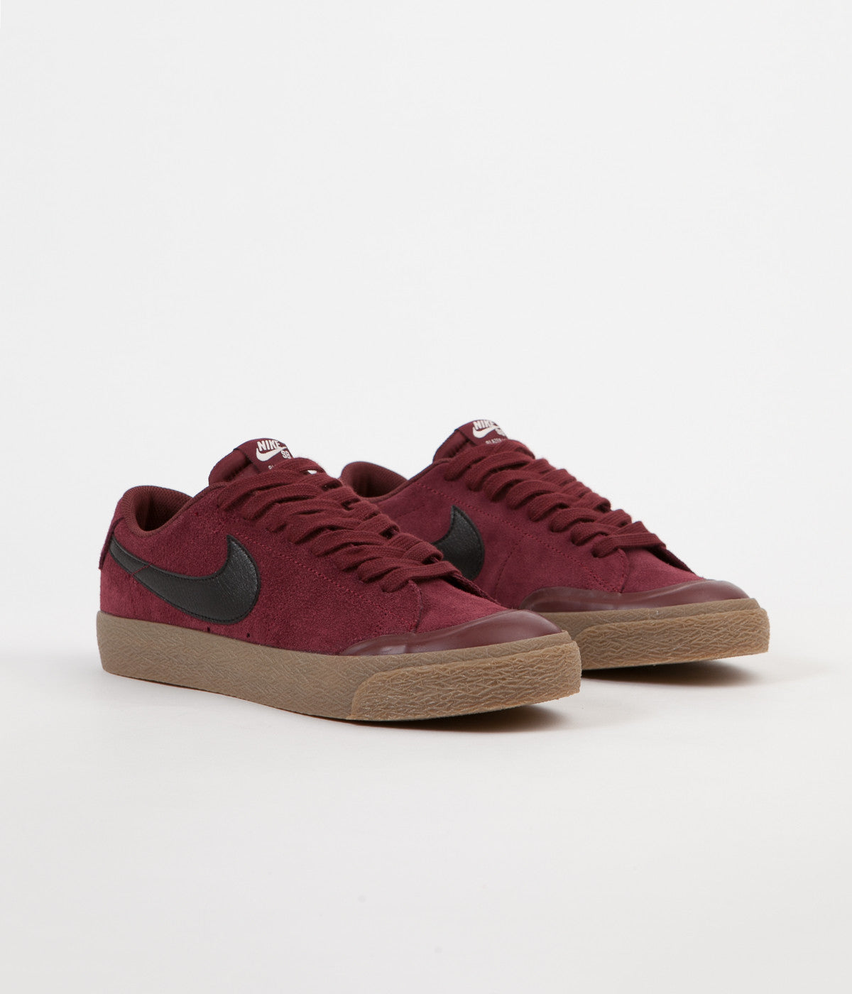 ... Nike SB Blazer Low XT Shoes - Dark Team Red / Black - Gum Light Brown  ...