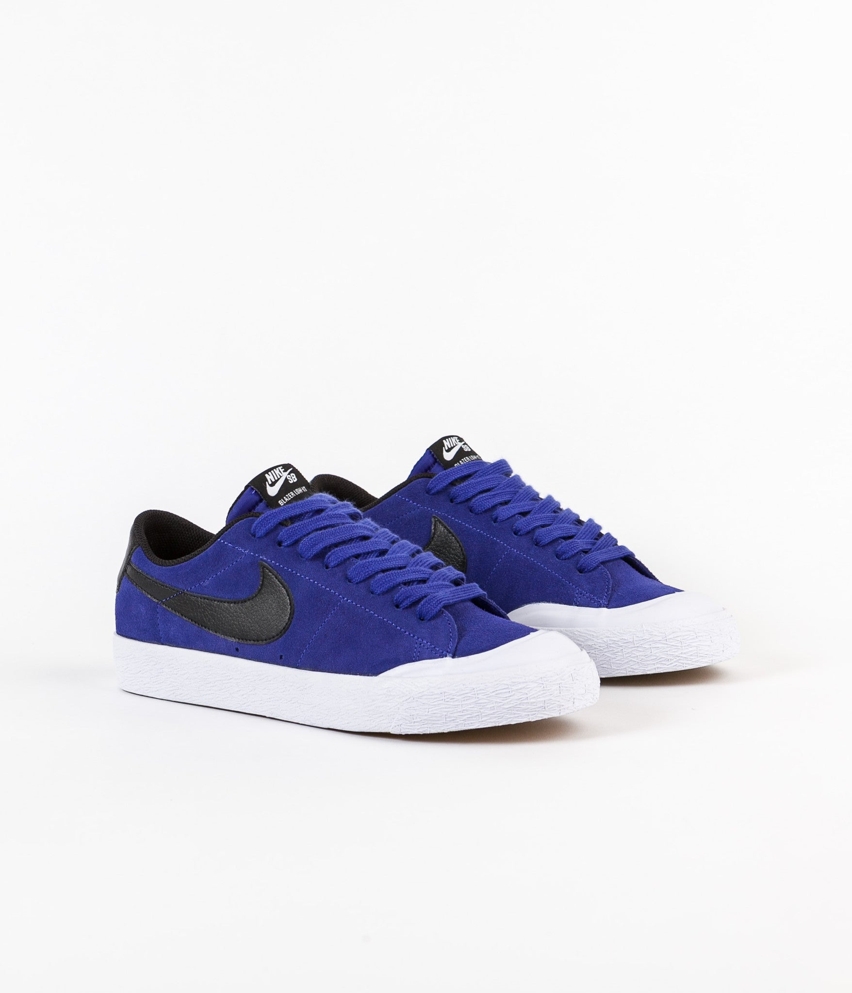 Nike SB Blazer Low XT Shoes - Deep Night / Black - White - Gum Light Brown
