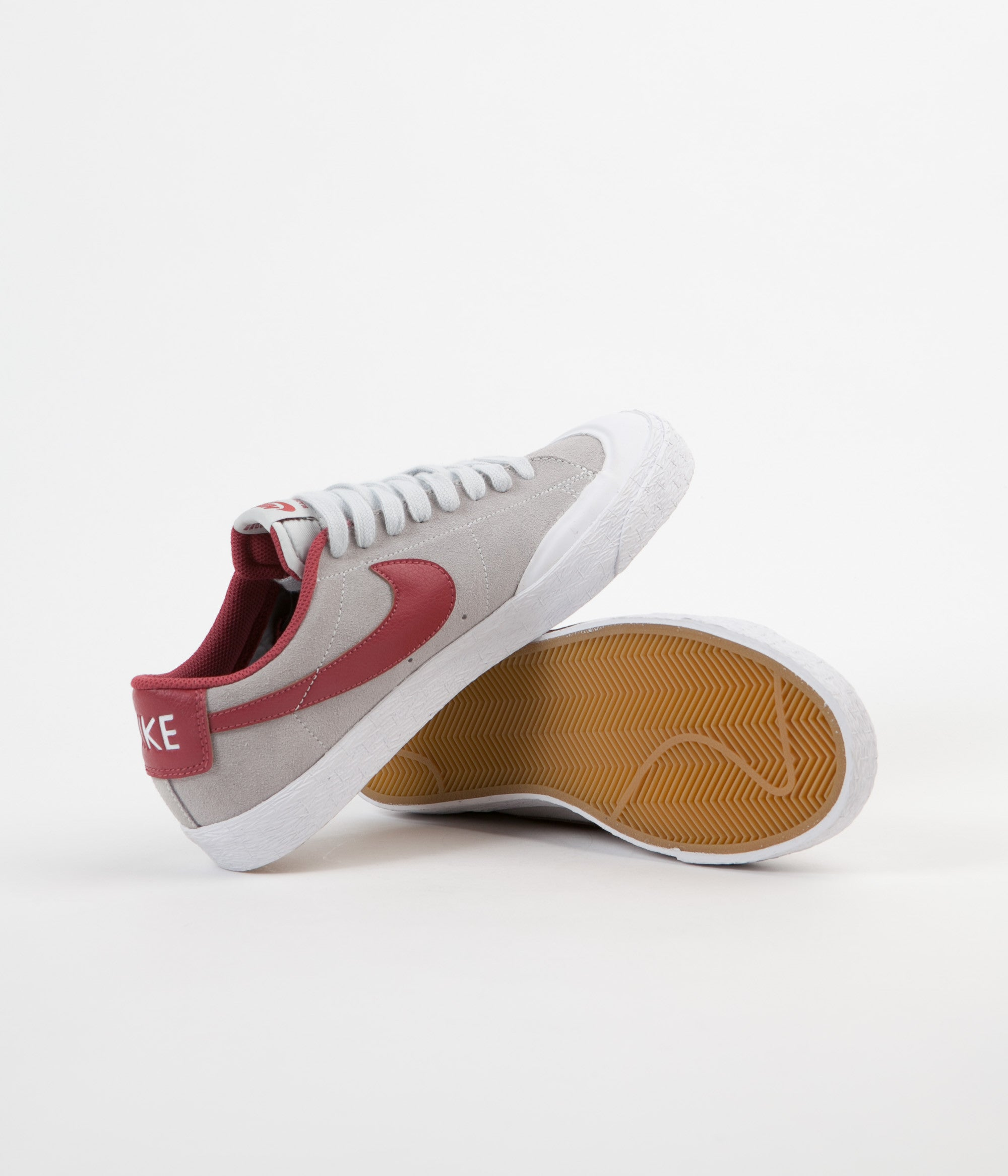 Nike SB Blazer Low XT Shoes - Pure Platinum / Cedar - White
