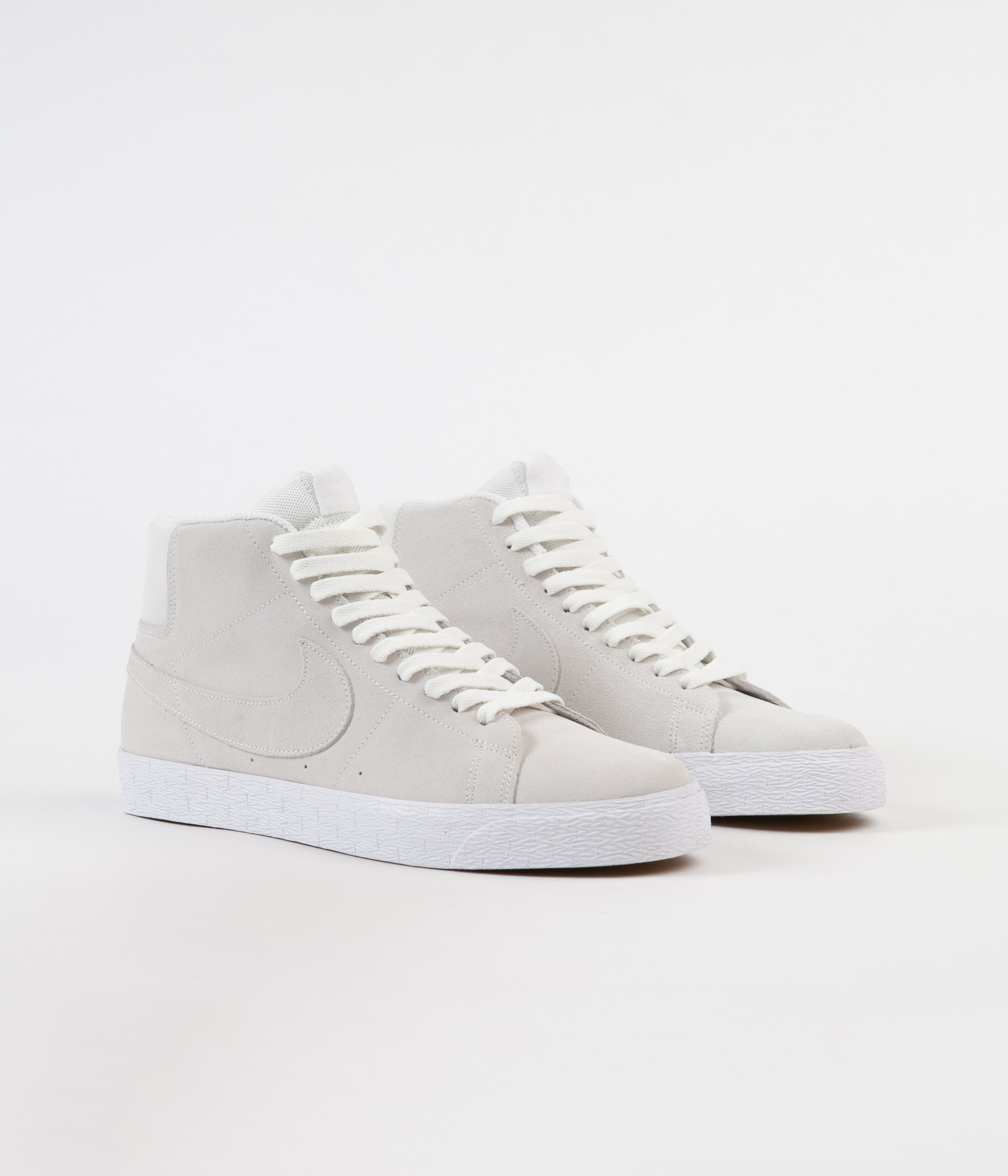 Nike SB Blazer Mid Deconstructed Shoes - Summit White / Summit White - White - White