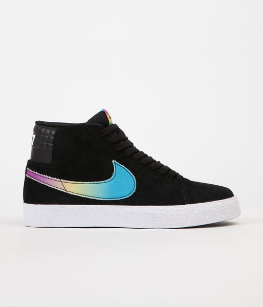 Nike SB Blazer Mid QS 'Lance Mountain' Shoes - Black / Multi Colour