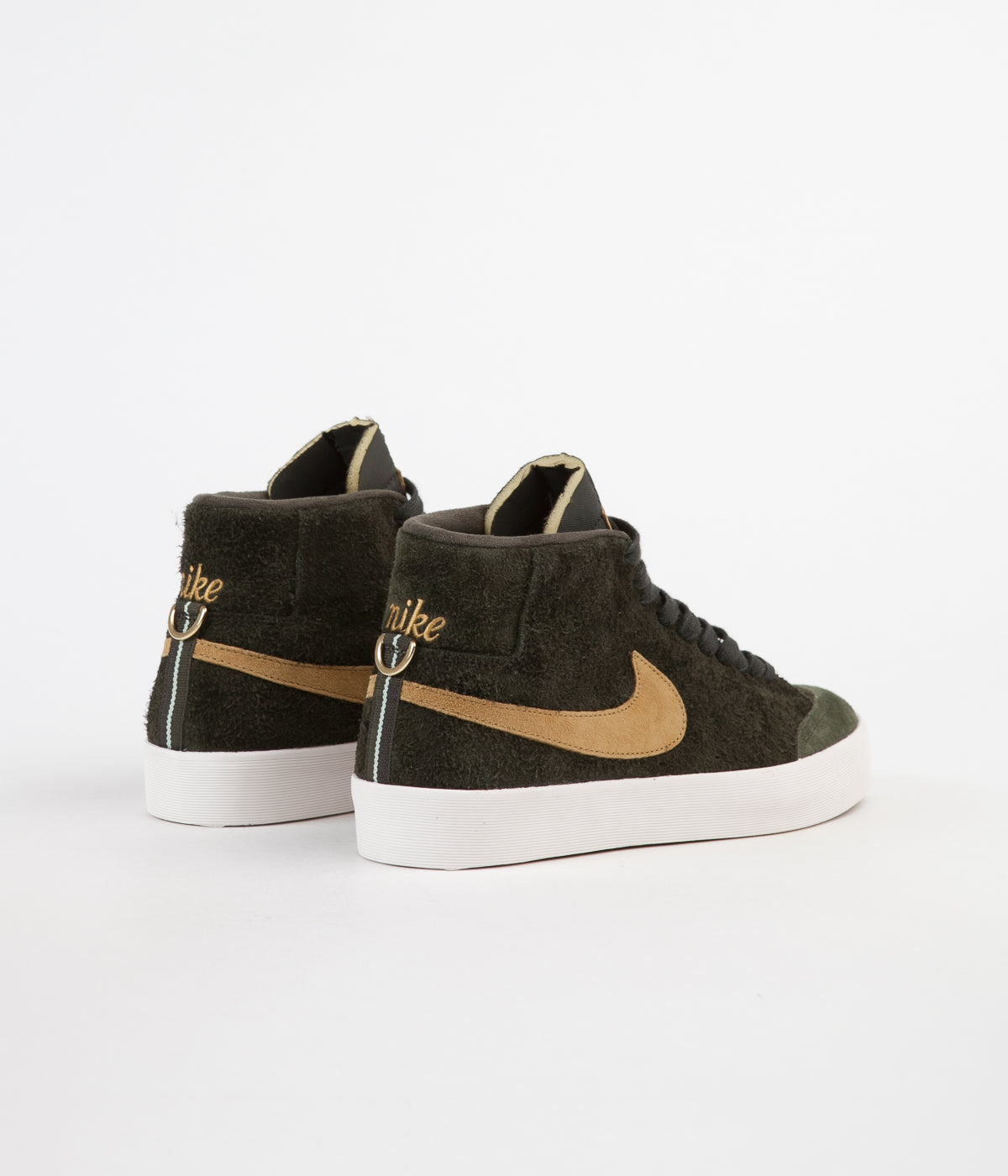 Nike SB Club 58 Blazer Mid QS Shoes - Sequoia / Flat Gold