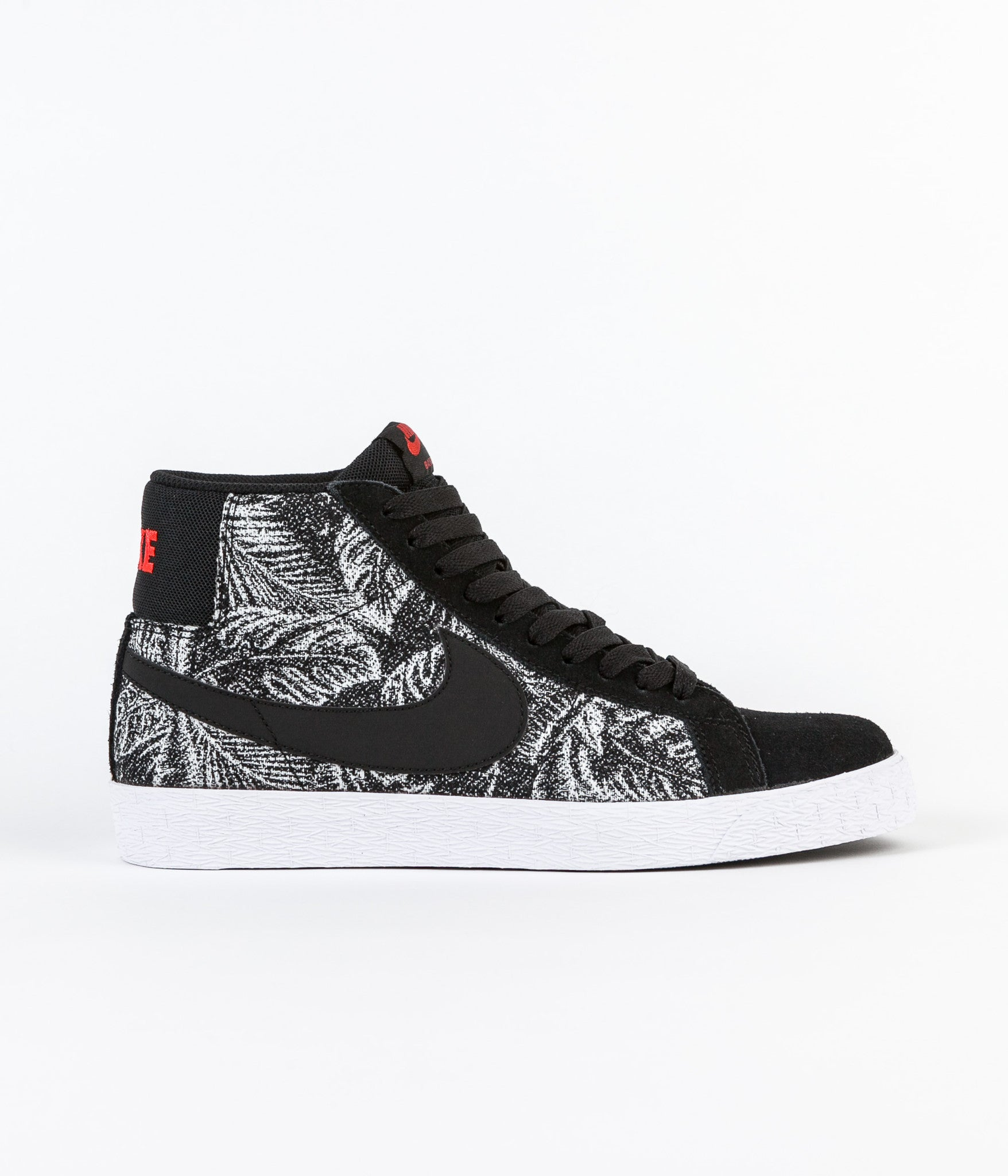 Nike SB Blazer Mid Shoes -  Black / Black - White - Max Orange