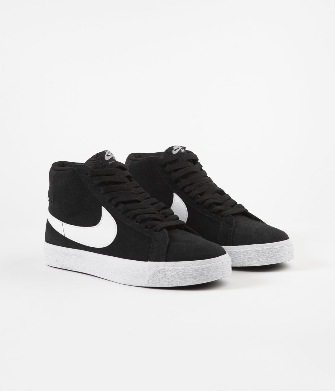 Nike SB Blazer Mid Shoes - Black / White - White - White