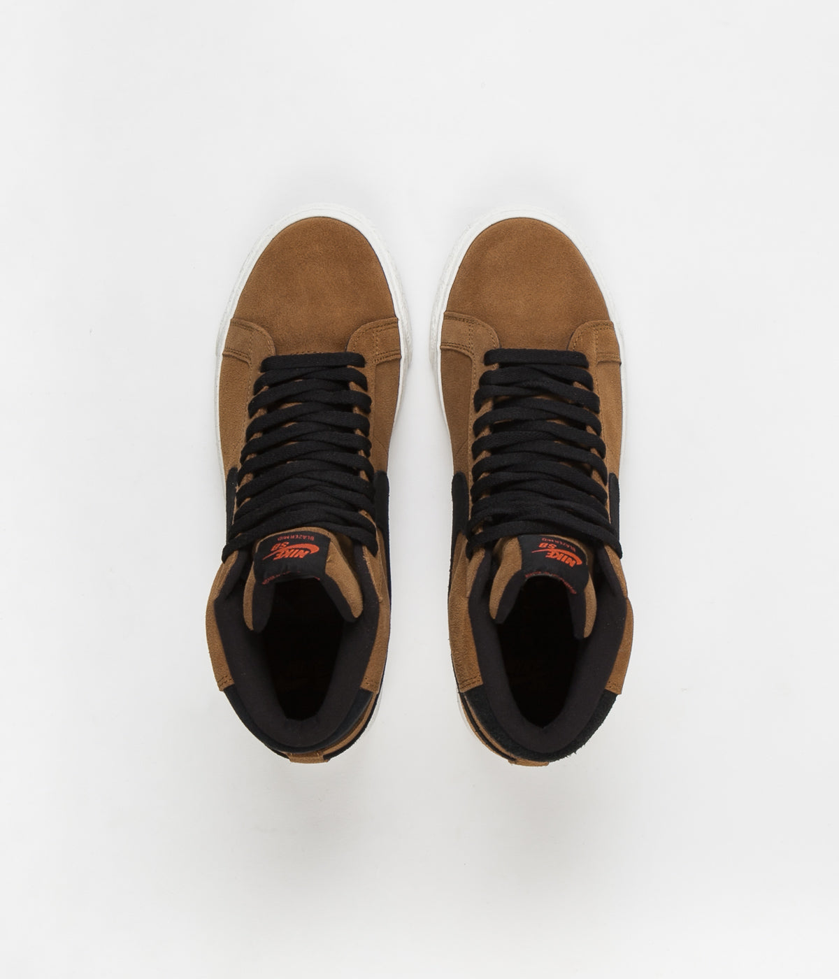 Nike SB Blazer Mid Shoes - Light British Tan / Black
