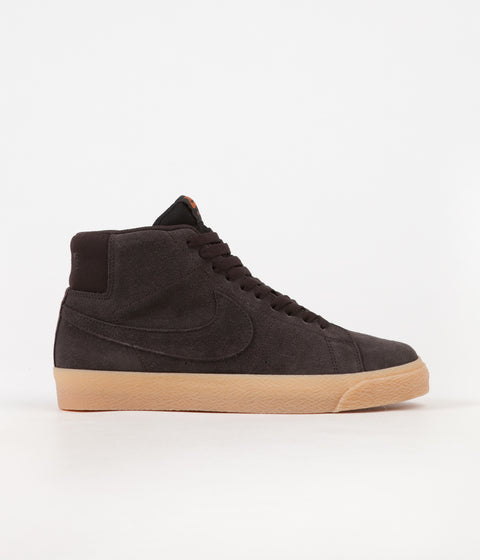 fdb4383f95 Nike SB Blazer Mid Shoes - Velvet Brown   Velvet Brown - Cinder Orange
