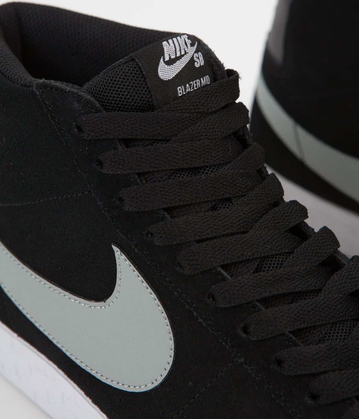 d6d90e1c5cdf ... Nike SB Blazer Premium SE Shoes - Black   Base Grey - White ...