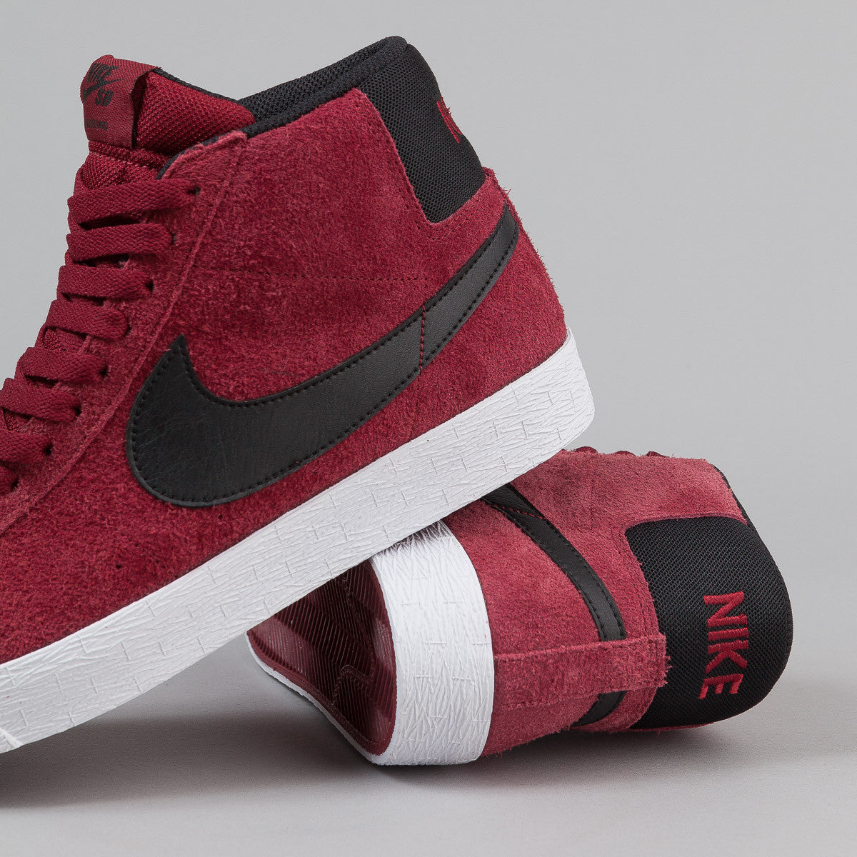 Nike SB Blazer Premium SE Shoes - Team Red / Black - White