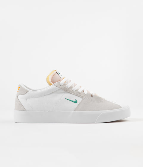 Nike SB Bruin Edge Shoes - White / Neptune Green - Vivid Orange