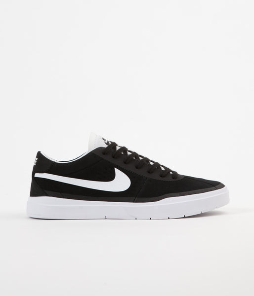 Nike SB Bruin Hyperfeel Shoes - Black / White - White
