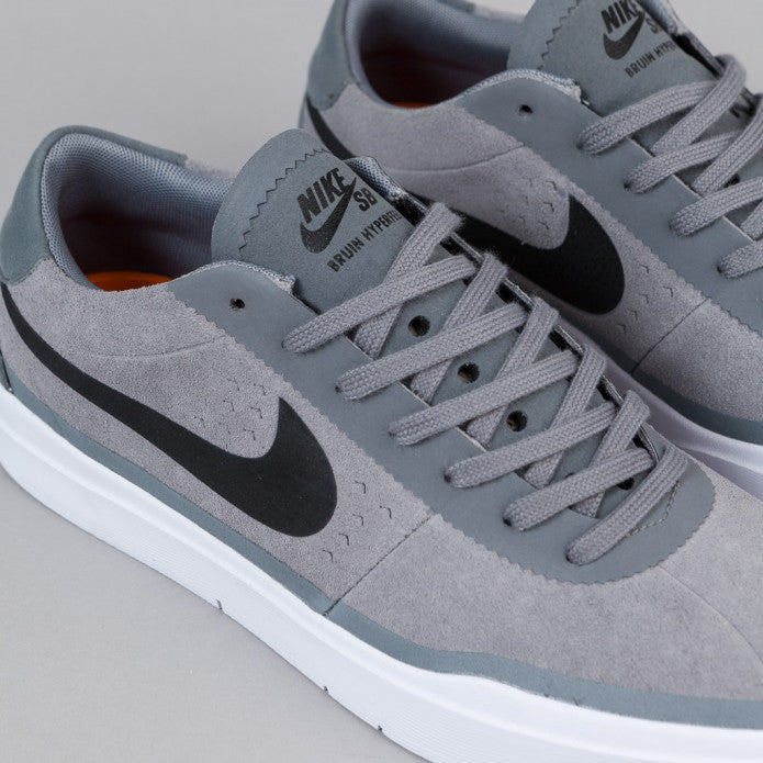 Nike SB Bruin Hyperfeel Shoes - Cool Grey / Black - White