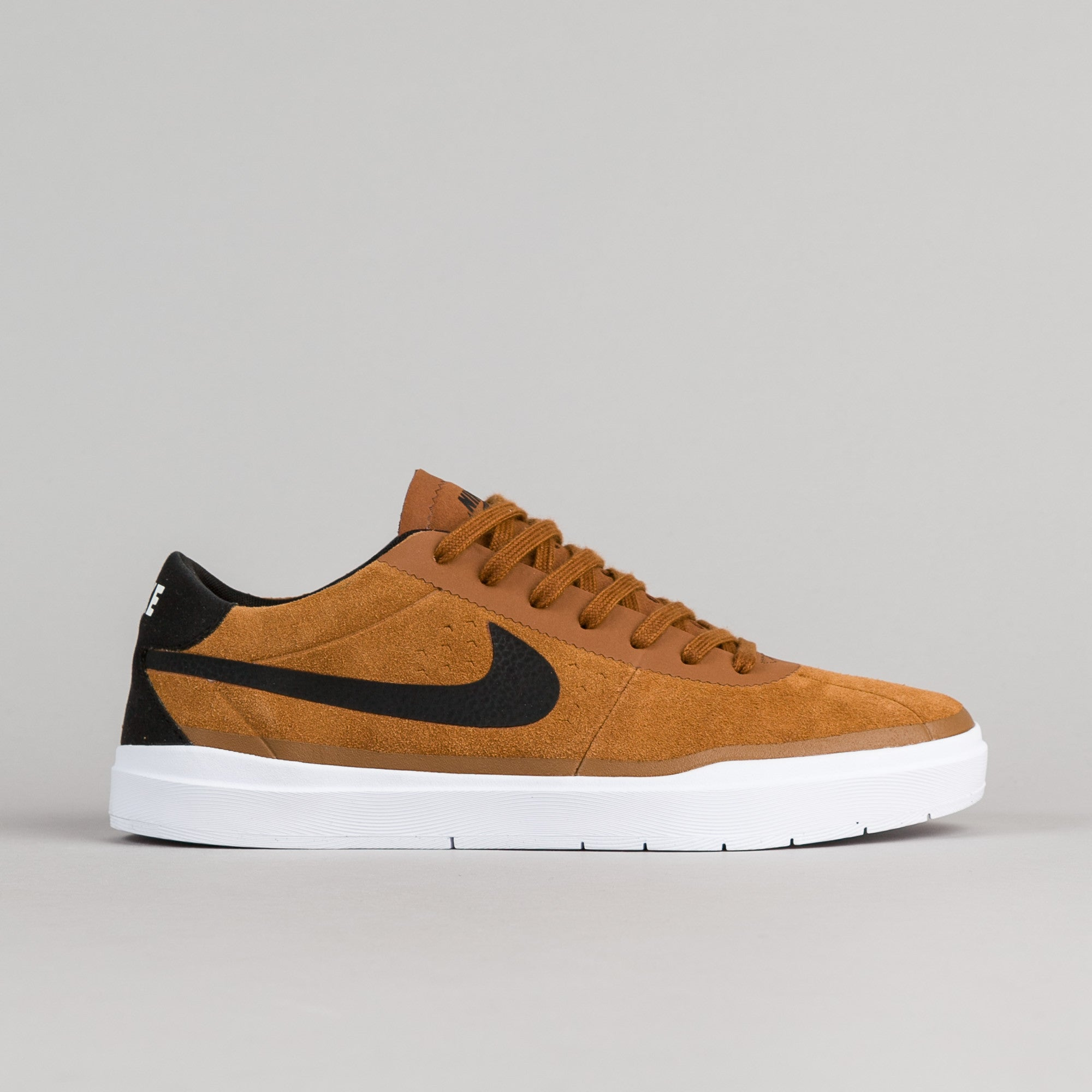 Nike SB Bruin Hyperfeel Shoes - Hazelnut / Black - White