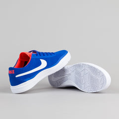 Nike SB Bruin Hyperfeel Shoes - Racer Blue / White - Total Crimson - White