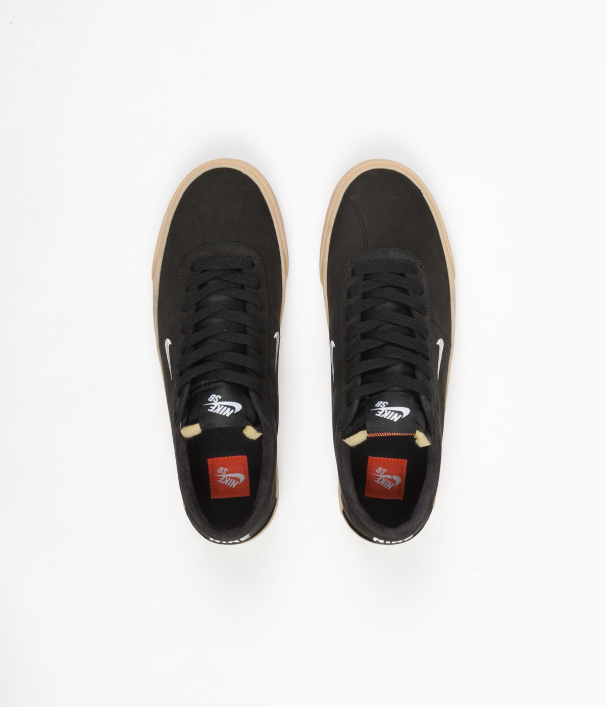 reputable site 60ed4 6f0a7 Nike SB Orange Label Bruin Ultra Shoes - Black   White - Safety Orange ...