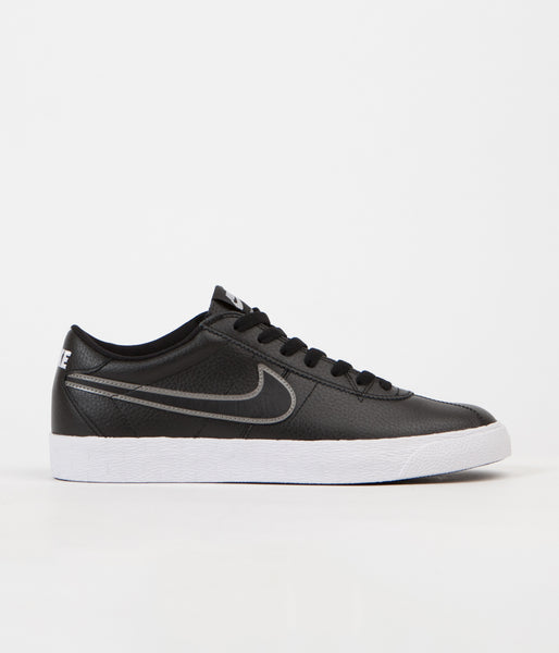 Nike SB Bruin Premium SE Shoes - Black / Black - Metallic Pewter