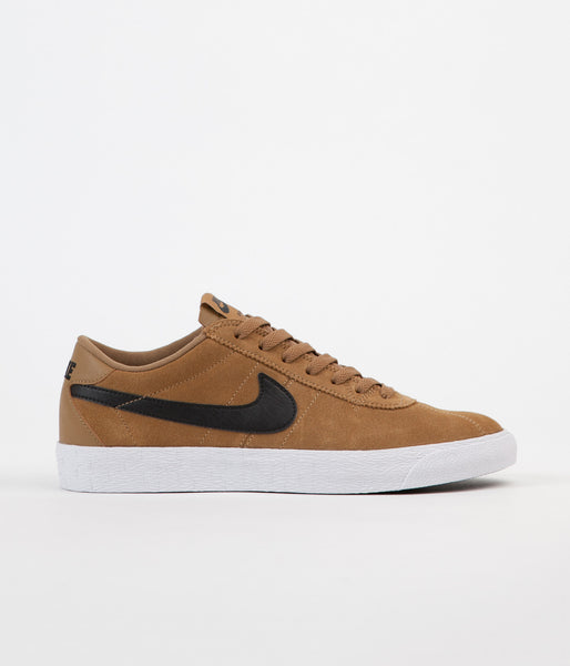Nike SB Bruin Premium SE Shoes - Golden Beige / Black - White - Black