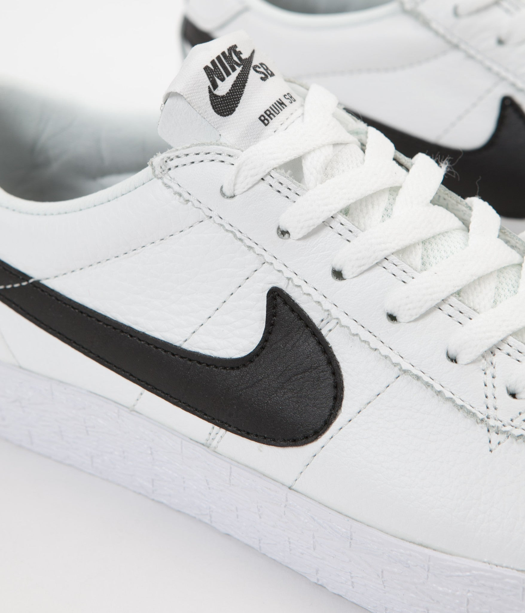 low priced f768f 11bdb ... Nike SB Bruin Premium SE Shoes - Summit White  Black - White ...
