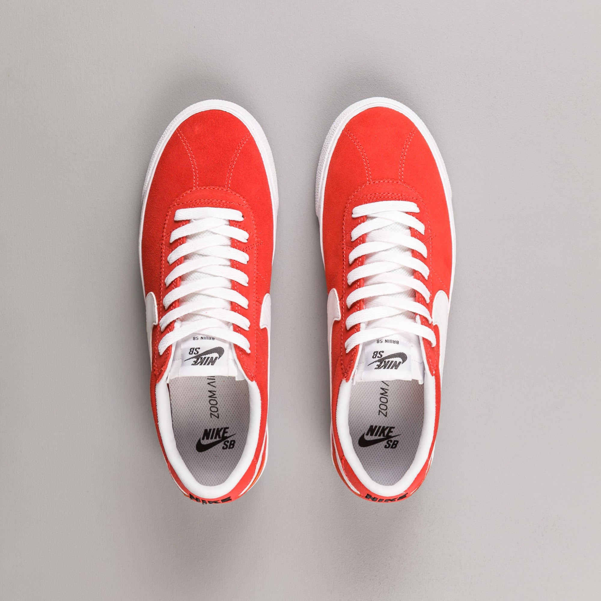 Nike SB Bruin Shoes - Max Orange / White - White - Black