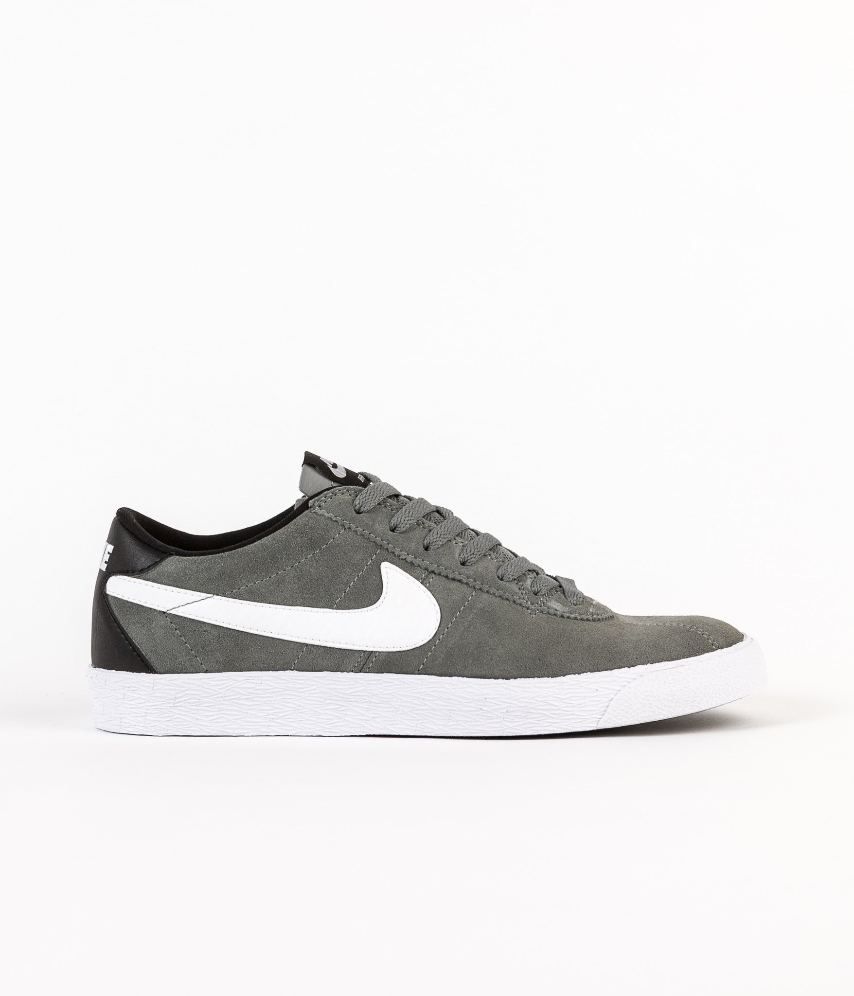 Nike SB Bruin Shoes - Tumbled Grey / White - White - Black