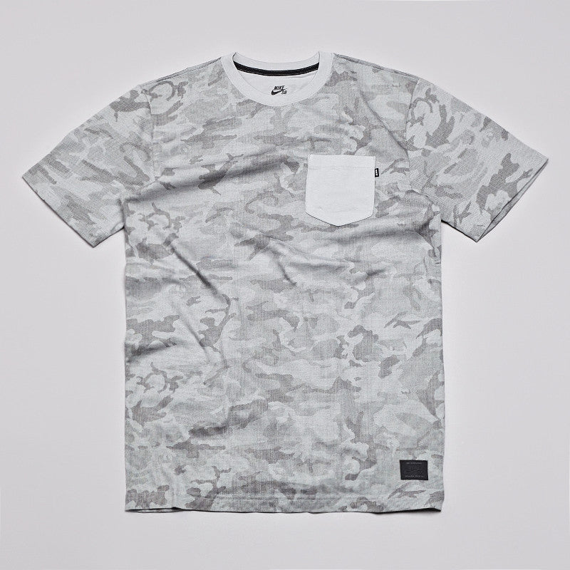 Nike Sb Camo Full Body Pocket T Shirt Dark Base Grey / Base Grey