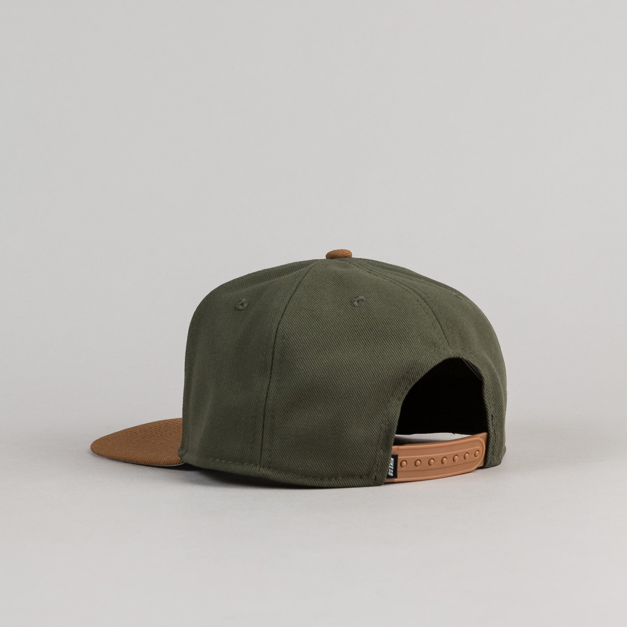 Nike SB Icon 6 Panel Cap - Cargo Khaki / Ale Brown / Black / White