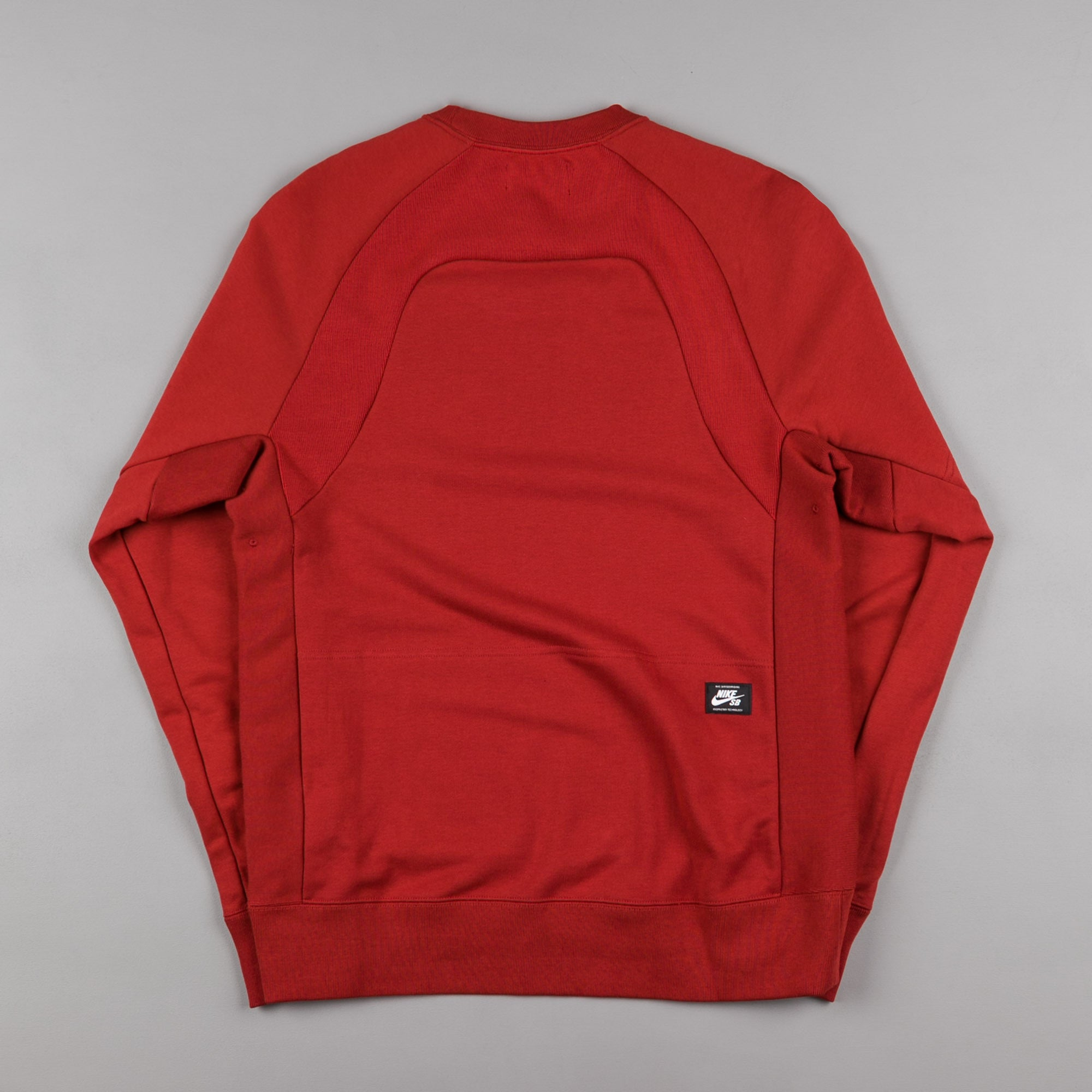 Nike SB Everett Reveal Crewneck Sweatshirt - Dark Cayenne / Light Crimson