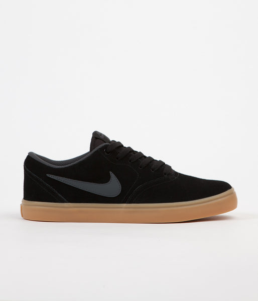 Nike SB Check Solarsoft Shoes - Black / Anthracite - Gum Dark Brown