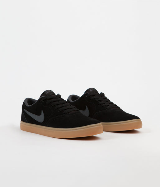 d1764666e641 Nike SB Check Solarsoft Shoes - Black   Anthracite - Gum Dark Brown ...