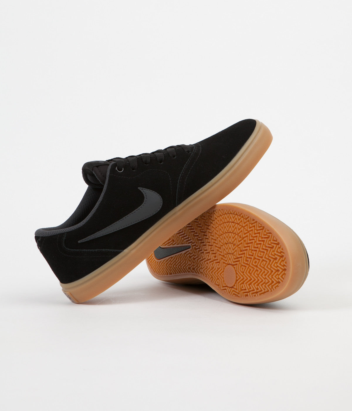 b19de7610c3f ... Nike SB Check Solarsoft Shoes - Black   Anthracite - Gum Dark Brown ...