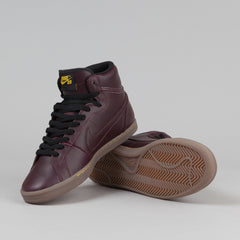 Nike SB Classic High QS Shoes - Deep Burgundy / Deep Burgundy