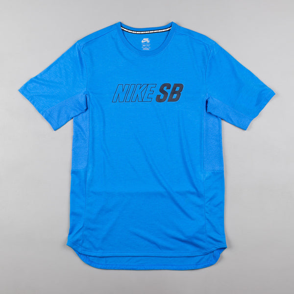 Nike SB Skyline Dri-FIT Cool T-Shirt - Light Photo Blue / Light Photo Blue / Obsidian