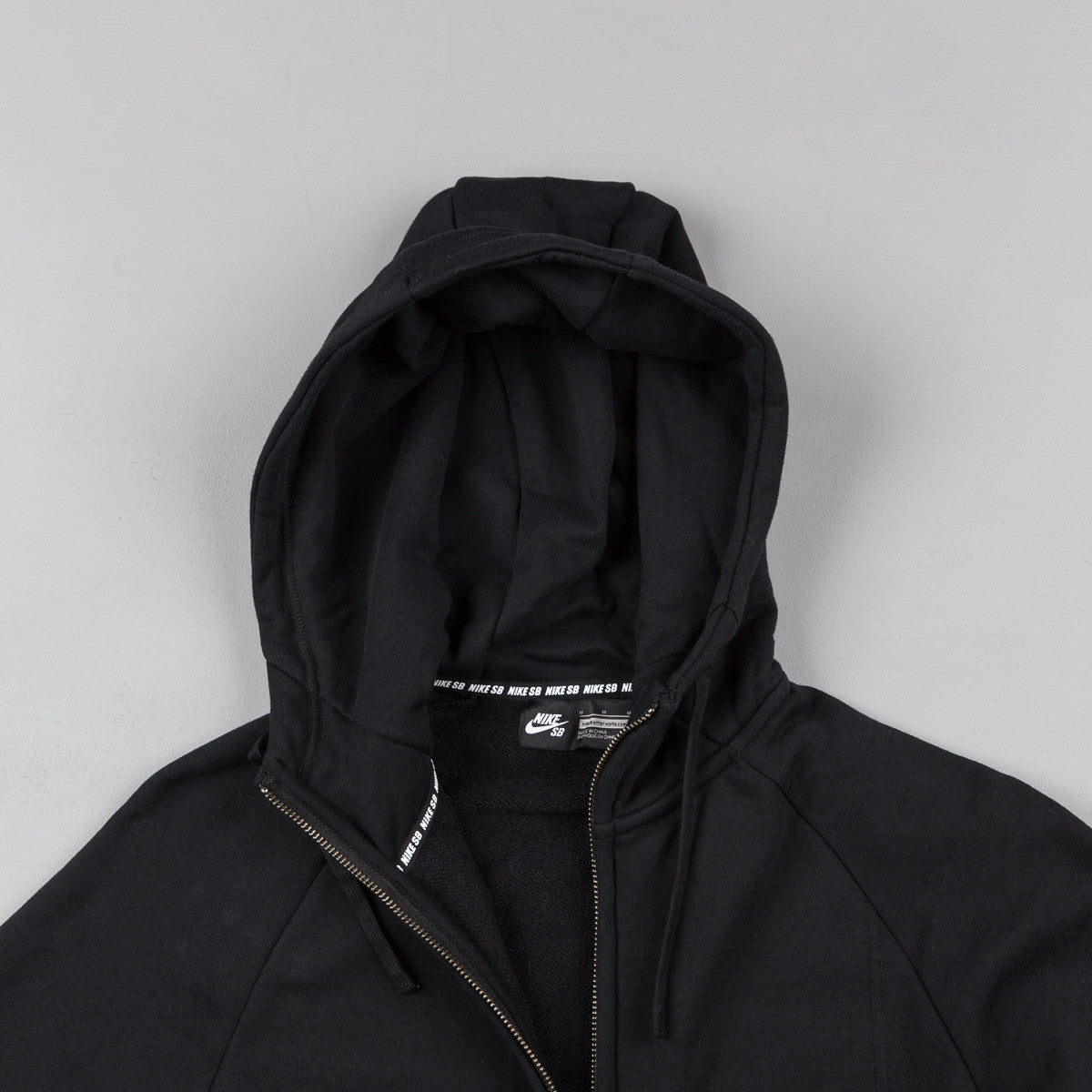 Nike SB Everett Graphic Full-Zip Hooded Sweatshirt  - Black / White