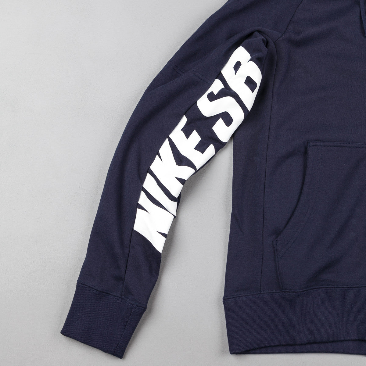 Nike SB Everett Graphic Full-Zip Hooded Sweatshirt - Obsidian / White