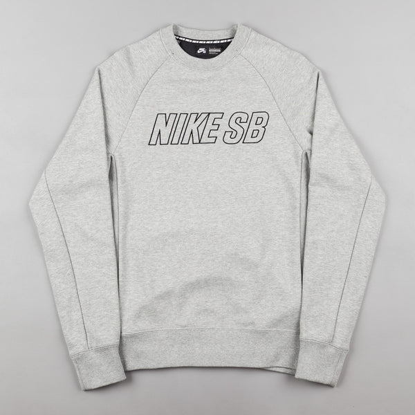 Nike SB Everett Reveal Crewneck Sweatshirt - Dark Grey Heather / Black