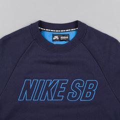 Nike SB Everett Reveal Crewneck Sweatshirt - Obsidian / Light Photo Blue