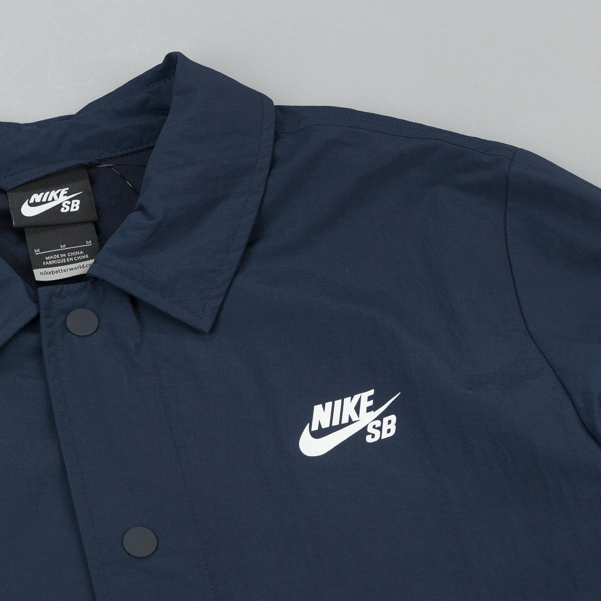 Nike SB Coaches Jacket - Dark Obsidian / White
