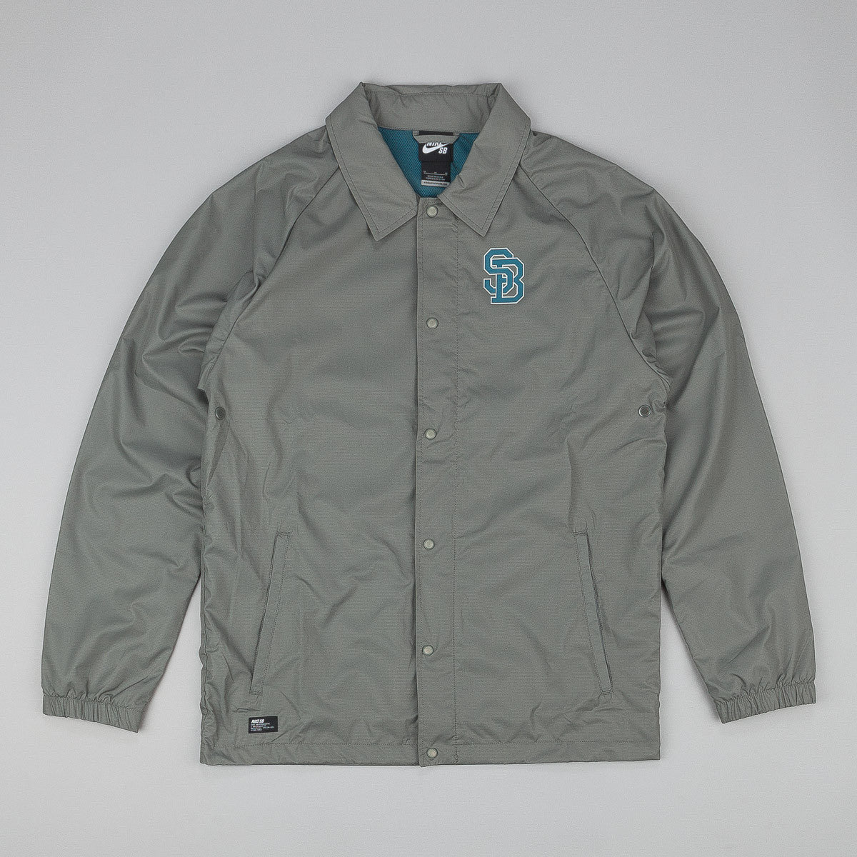 Nike SB Coaches Jacket Medium Base Grey / Night Factor