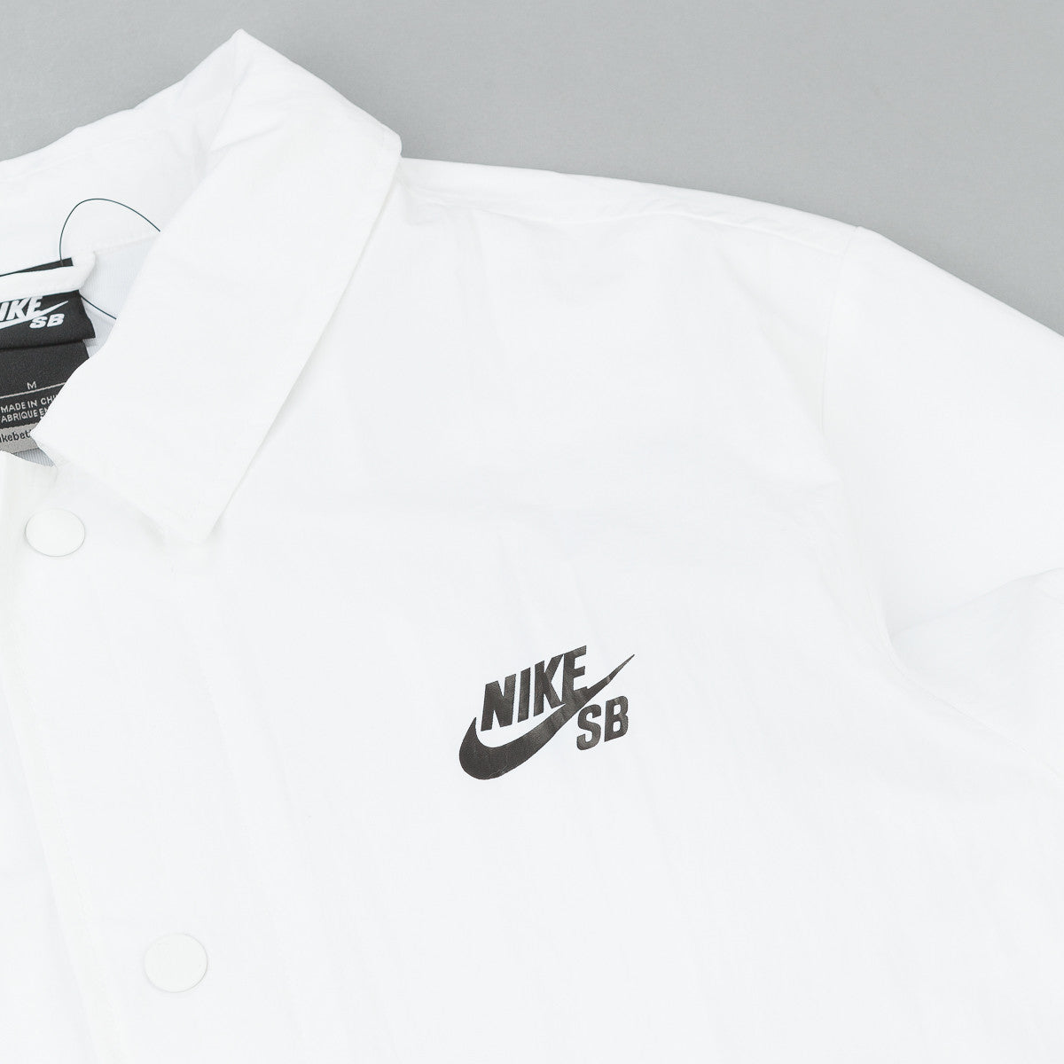 Nike SB Coaches Jacket - White / Black