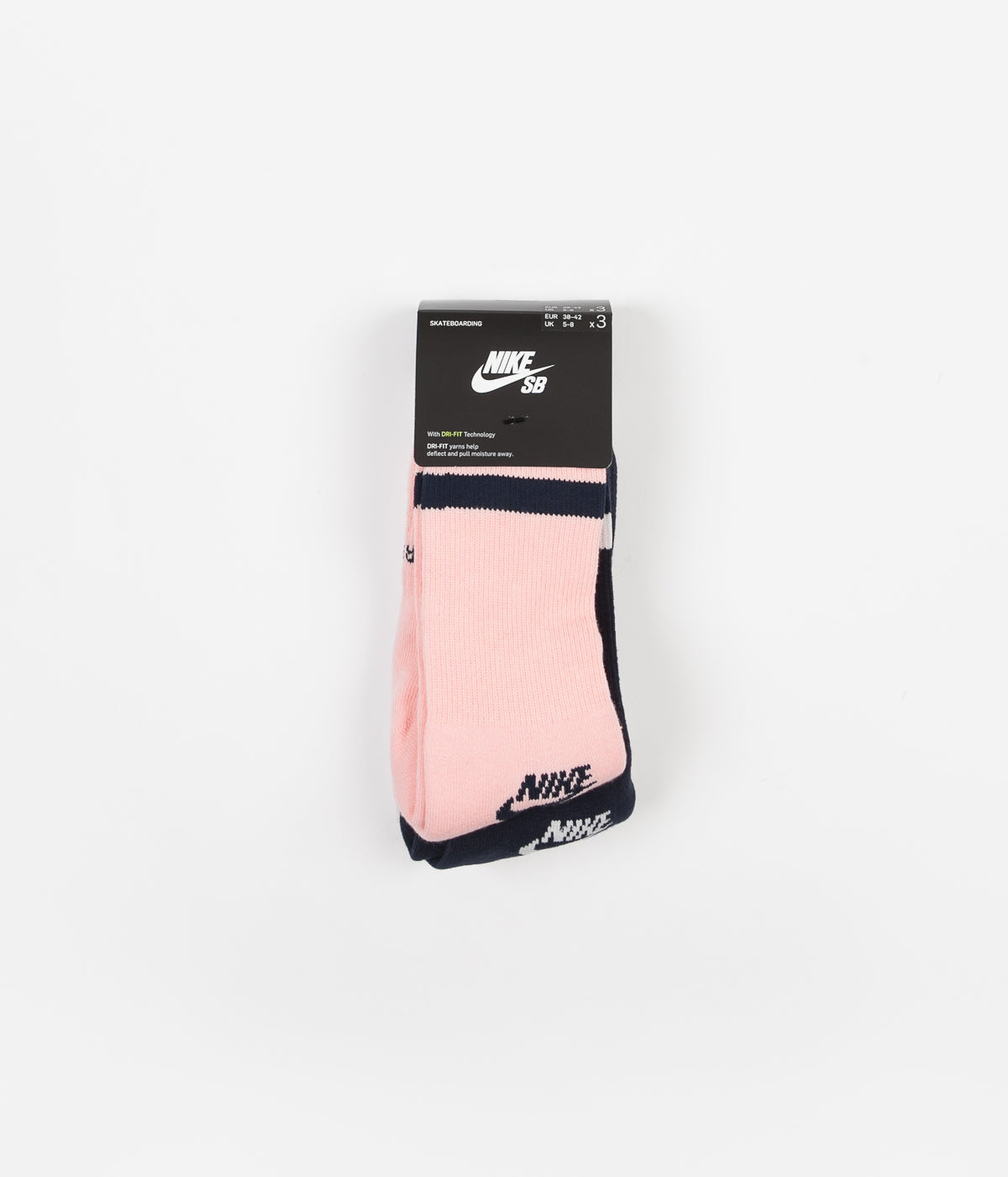 Nike SB Pink, Navy & White 3 Pack Crew Socks