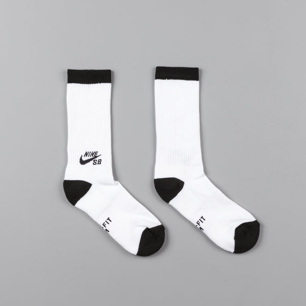 Nike SB Crew Socks (3 pair)  - White / Black