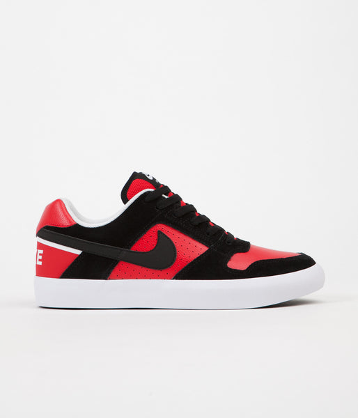 Nike SB Delta Force Vulc Shoes - Black / Black - University Red - White