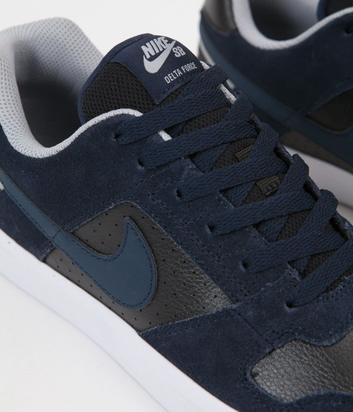 Nike SB Delta Force Vulc Shoes - Obsidian / Obsidian - Black - Wolf Grey