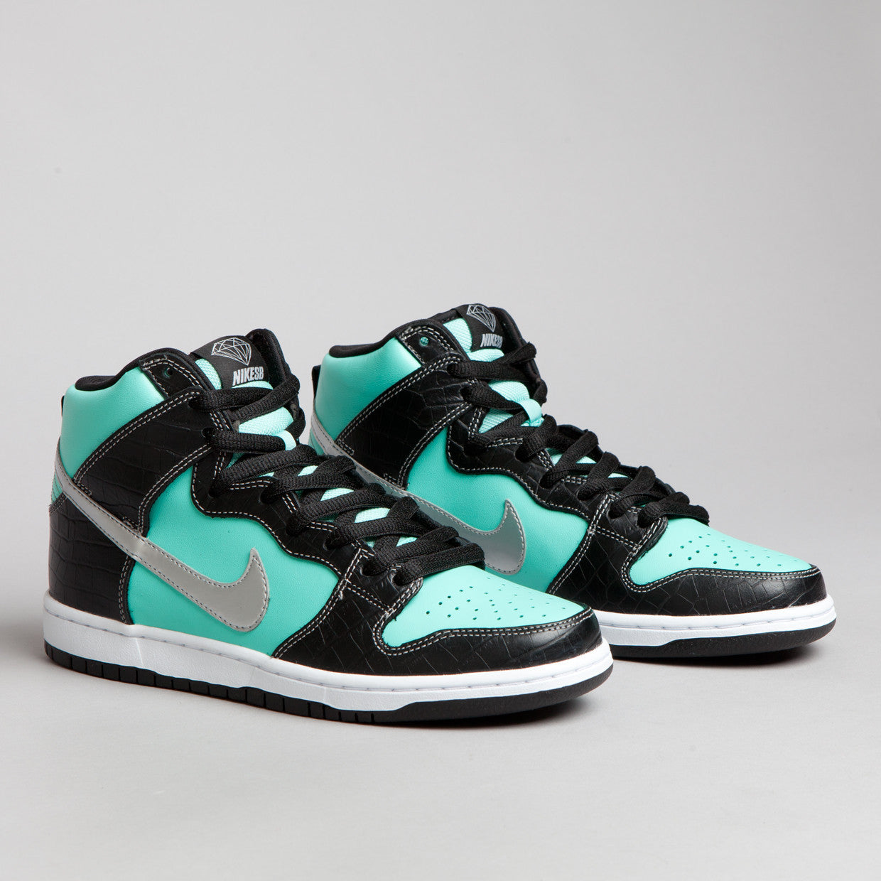Nike SB Dunk High Premium Aqua / Chrome - Black
