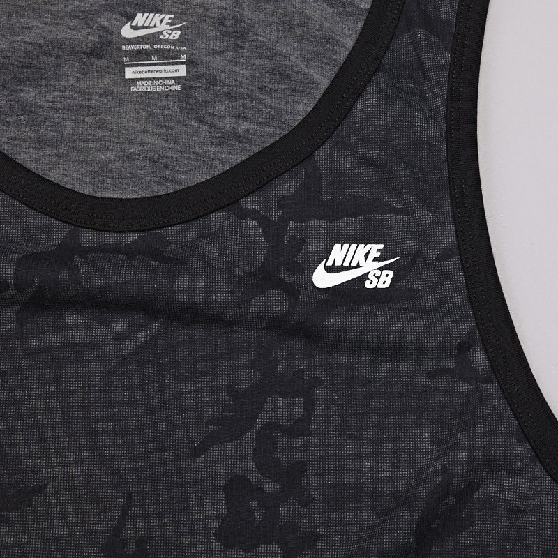 Nike SB Dri-Fit Camo Block Tank Black / White