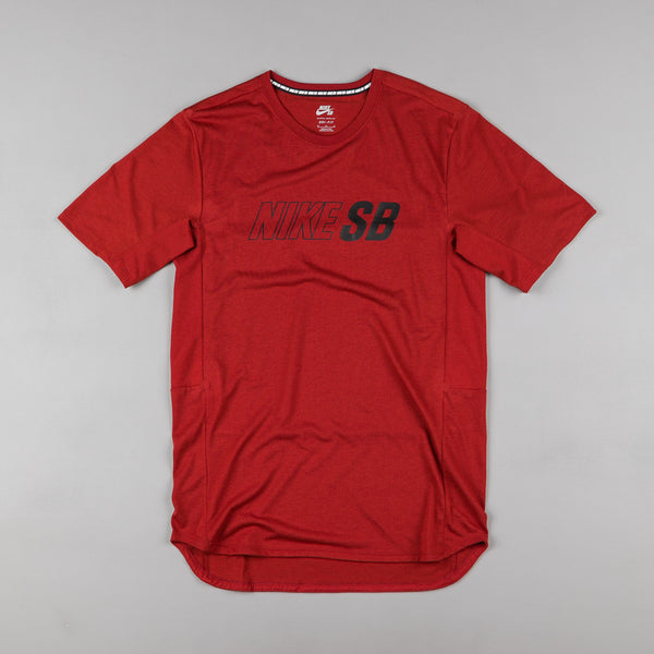 Nike SB Dri-Fit Cool GFX T-Shirt - Dark Cayenne / Black